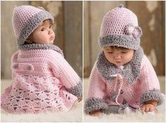 Modern Baby Set with Sweater - Crochet Free Pattern - STYLESIDEA