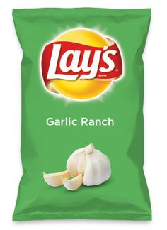 Wouldn't green chile chicken enchilada be yummy as a chip? Lay's Do Us A Flavor is back, and the search is on for the yummiest chip idea. Lays Potato Chip Flavors, Lays Chips Flavors, Lays Potato Chips, Garlic Parmesan, Garlic Sauce, Roasted Garlic, Garlic Butter, Garlic Cheese, Garlic Shrimp