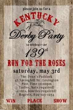 FREE Kentucky Derby Party Printables Garden Party Updated for