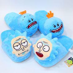 Rick, Morty, Meeseeks Plush Slippers!