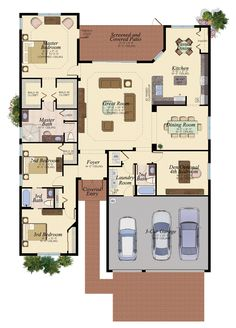ROYAL COLLECTION SAN MARINO/69 3 Bedrooms 3 Bathrooms Den Great Room Screened Covered Patio 3-Car Garage