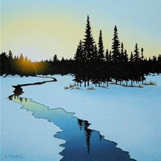 View and buy this Acrylic on Canvas Painting by Joseph Pearce Canadian Art, Watercolor Art, Art Painting, Landscape Paintings, Fine Art, Tree Art, Painting, Watercolor Landscape, Landscape Art
