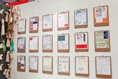 Oh So Beautiful Paper: National Stationery Show 2013, Part 8- love the displays on clipboards
