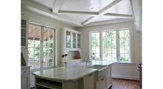 Like these ceilings - different alternative to coffered ceilings