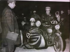 Triumph T110 outfit in Austria, 1962. Picture provided by the rider 53 years later.