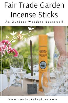 Fair Trade Repellent Incense Sticks by Nantucket Spider. Help keep away flies and mosquitoes so you can enjoy your outdoor wedding in peace. Crafted and naturally scented using a wonderful blend of organic essential oils that have been steam-distilled and cold-pressed. A great outdoor wedding event essential for backyard weddings, beach weddings, garden weddings, or more. Easily place the scented outdoor incense sticks in strategic locations to keep mosquitoes and flies away. Learn more. Tick Repellent For Dogs, Best Insect Repellent, Natural Tick Repellent, Fly Repellant, Backyard Weddings, Garden Weddings, Beach Weddings, Essential Oil Bug Spray, Organic Essential Oils