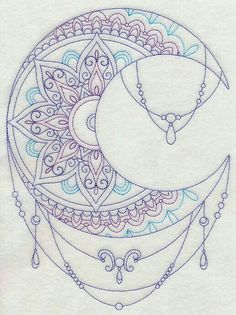 Mandala moon.  This would look AMAZING in cross stitch.