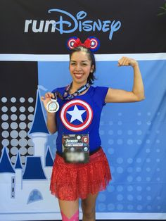 This was my Captain America outfit for RunDisney's Avengers Half Marathon 2014.