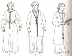 kentish_dress_styles.  6th Century.  Baroness Sylvie