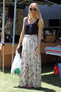 Sarah from Arundel looking super stylish at The Village Markets - Feb 5th 2012