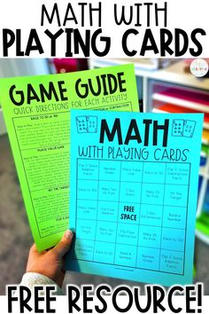 Math With Playing Cards - Simply Creative Teaching - Rosalie Creative Teaching, Teaching Math, Kindergarten Math, Math Math, Math Bingo, Teaching Time, Preschool Math, Multiplication, Maths