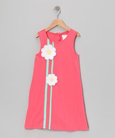 Coral Daisy A-Line Dress - Girls | zulily