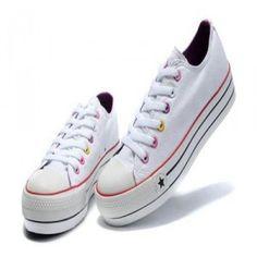 Blanco Azul Converse All Star Zapatos Mujer Bajas La Parte Superior Del Agujero Colorido Lienzo Intensifican venta en línea barata