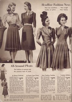 Fall & Winter 1940-41 Sears, Roebuck & Co. | VintageStitches.com