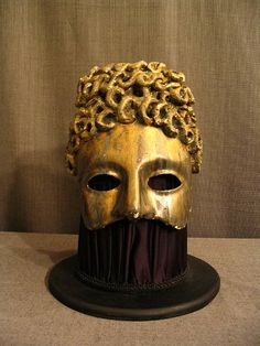Caesar Mask Bobs, Masks, Lion Sculpture, Statue, Diy, Accessories, Squares, Bricolage, Handyman Projects
