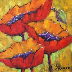 Poppies 03 Painting  - Poppies 03 Fine Art Print