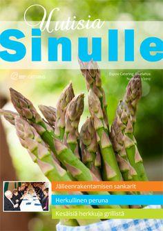 Uutisia Sinulle - Espoo Catering asiakaslehden taitto ja suunnittelu 2012-2013.