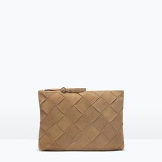 Image 1 of BRAIDED SUEDE ENVELOPE CLUTCH from Zara