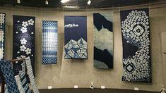 端緒庵 絞りと藍染作品展@小金井宮地楽器ホール | * WILDFLOWER GARDEN * Japanese Textiles, Japanese Fabric, Shibori Techniques, Hand Sewing Projects, Identity, Shibori Tie Dye, Design Poster, Packaging, Branding