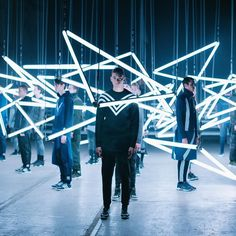 A kinetic light show captured the energy created when shared principles of design utility and technology converge. adidas Originals by White Mountaineering FW16 arriving August. by adidasoriginals