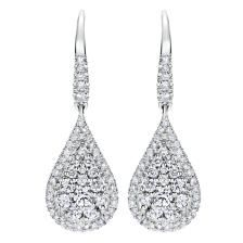 Check out these stunning teardrop diamond earrings from the 'Gabriel' collection! #Gabriel&Co.NY #diamonds #earrings #barthaujeweller
