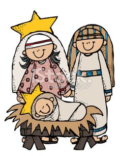 free nativity patterns | Nativity Family Illustration Mary, Joseph,and Baby Jesus Royalty Free ...