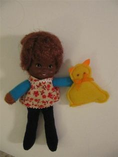 Honey Hill Bunch Vintage Curly Q AA MATTEL Baby Doll 1975 w/ Plush Cat Toy