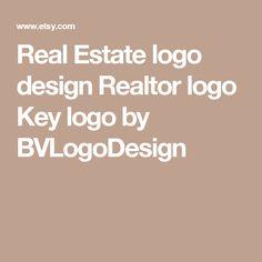 Real Estate logo design Realtor logo Key logo by BVLogoDesign