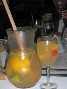 Sangria de Cava - best EVER (the Columbia website has their recipe too, a little more exact, but no picture!)