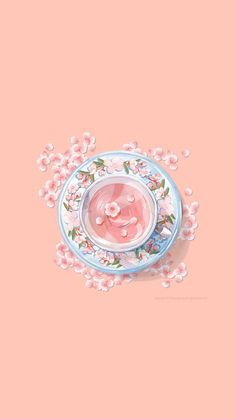 cup of tea Cute Pastel Wallpaper, Soft Wallpaper, Cute Patterns Wallpaper, Aesthetic Pastel Wallpaper, Cute Anime Wallpaper, Cute Wallpaper Backgrounds, Pretty Wallpapers, Cute Cartoon Wallpapers, Animes Wallpapers