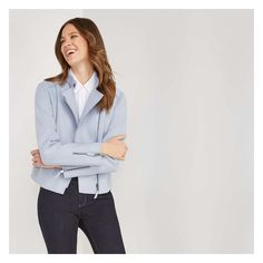 Don't leave the house without our warm moto jacket designed with a stylish asymmetrical zip front. Joe Fresh, Striped Tee, Moto Jacket, Fashion Outfits, Stylish, Tees, Long Sleeve, Sleeves, Jackets