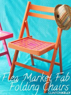 Paint boring folding chairs in fun colors and designs so you're always ready to throw a party!