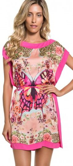 TEE SHAPES! Vestidos que lembram blusas alongadas, com um colorido de se apaixonar! ♥