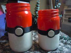 DIY Pokemon Decorative Mason Jars