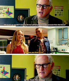 """This is right when I meet my future wife, Clarissa..."" #LegendsofTomorrow #Season1 #1x02"