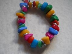 Colorful Stone Bracelet  by SilverMoonDesigns for $15.00