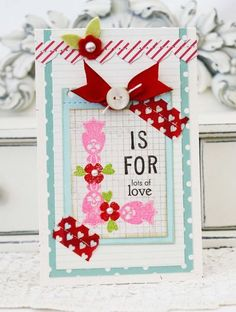 L Is For Love Card by Melissa Phillips for Papertrey Ink (June 2013)