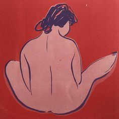 Original silkscreen print. Seated figure two variations to