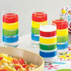 Bright Stripes Tall Iced Tea Tumblers  http://ceaalford.athome.com