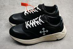 13e3e43ca9b9bd Men s Women s Off-White x Arrow Running Shoes Black