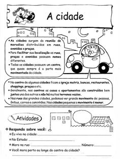 ZONA RURAL  E URBANA - atividades Learn Portuguese, Montessori Baby, Social Studies, Geography, Sissi, Professor, My Books, Teaching, Education