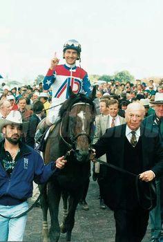 The Great Cigar with jockey Jerry Bailey