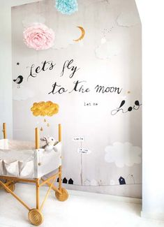 nursery...let's fly to the moon...