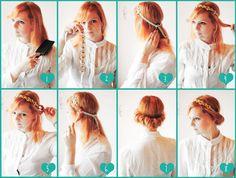 Lana Red Studio: Vintage Hairdo Tutorial 1. Brush you