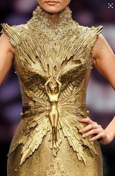 Gold Baroque Haute Couture