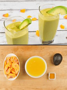 Sweet peaches and bright pineapple are given a nutritional leg-up with an avocado, which also lends its silky texture to this awesome smoothie. Add a touch of honey just because you deserve it, and you are definitely good to go.