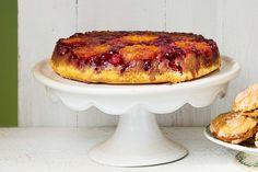 Upside-Down Orange-Cranberry Cake  - CountryLiving.com