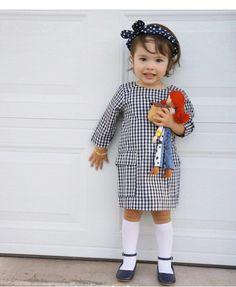 Jessie TOY STORY  @babyellestyle Instagram Navy blue & white Jessie Toy Story, Tartan, Plaid, Moda Instagram, Gingham Check, Blue And White, Navy Blue, Cool Kids, Kids Fashion