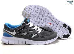 Nike Free Run 2 Cool Grey White Black Varsity Royal Size 12 443815-108