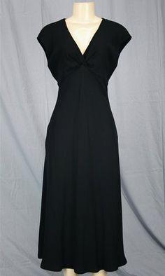 JONES NY Black Dress Evening Gown Empire Waist Sz 10 M Crepe Elegant | eBay